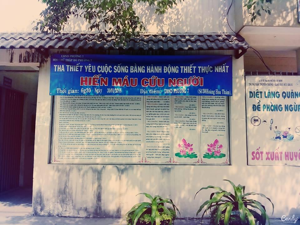 [Thông tin] Hiến Máu Tình Nguyện Quận Bình Thạnh (30/01/2015)